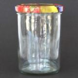9 Gläser 400g Sturz inkl. Deckel Obst Dekor