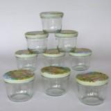 9 Gläser 200g sturz (230ml) inkl. Obst Dekor