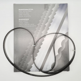 3er Set Bandsägeblätter Premium 1750 x 16 x 0,56 gehärtet